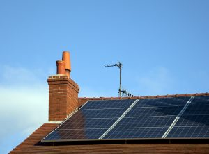 Rooftop Solar Panels On Residential House